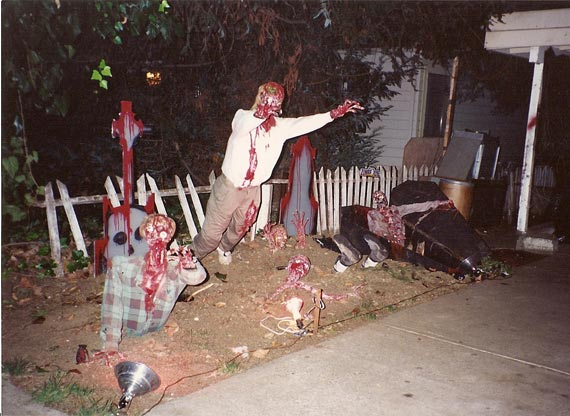 spooky halloween yard decorating ideasjpg